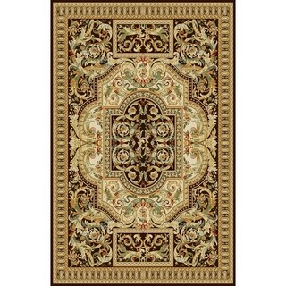 "Rug Tycoon Oriental Traditional Brown Rug - 10'0""x13'0""rectangular"