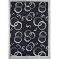 "Rug Tycoon Abstract Modern Contemporary Black Rug - 10'0""x13'0""rectangular"