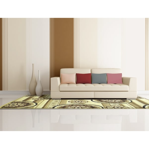 """Rug Tycoon Abstract Modern Contemporary Ivory Rug - 4'0""""x6'0""""rectangular"""