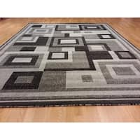 "Rug Tycoon Abstract Modern Contemporary Grey Rug - 10'0""x13'0""rectangular"