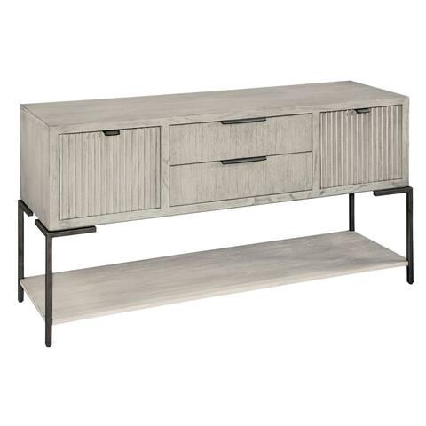 Hekman Furniture Sierra Heights Antique White Sideboard Buffet Cabinet - 35.75 in high x 64.75 in wide x 20.25 in deep