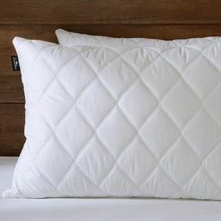 Downluxe Quilted Feather and Down Pillows ( Set of 2) - White