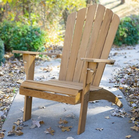 Cambridge Casual Sherwood Teak Adirondack Chair with Cup Holder