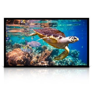 """Pyle PRJTPFL122 Home Theater Fixed Flat Projection Screen 120"""" - Black"""