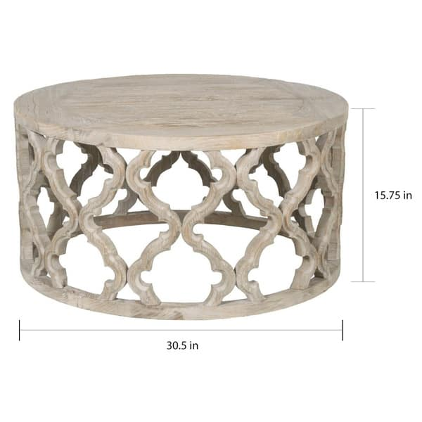 Terrific Shop Carson Carrington Valshed Round Wooden Coffee Table Gmtry Best Dining Table And Chair Ideas Images Gmtryco