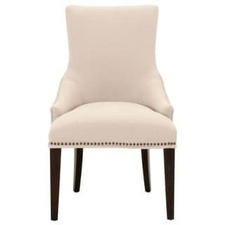 Upholstered Wooden Dining Chair, Beige
