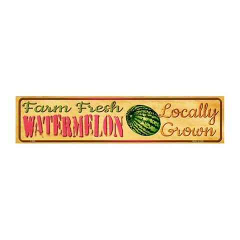 Smart Blonde K-693 Aluminum Farm Fresh Watermelon Novelty Mini Street Sign