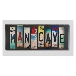 Smart Blonde WS-004 Man Cave License Plate Strip Novelty Wood Sign