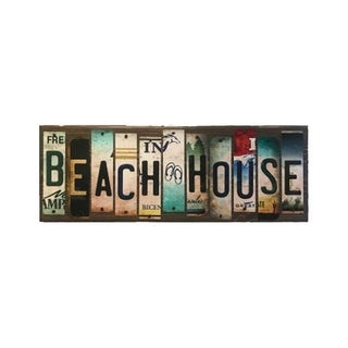Smart Blonde WS-017 Beach House License Plate Strip Novelty Wood Sign