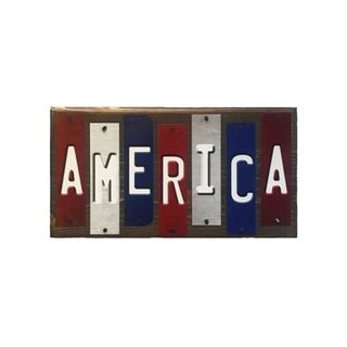 Smart Blonde WS-020 America Fun Strips Novelty Wood Sign