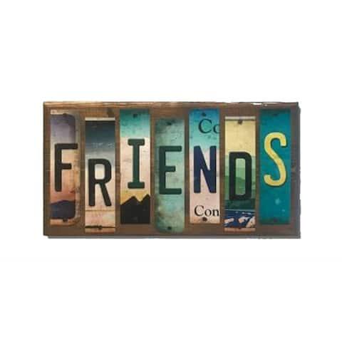 Smart Blonde WS-071 Friends License Plate Strip Novelty Wood Sign