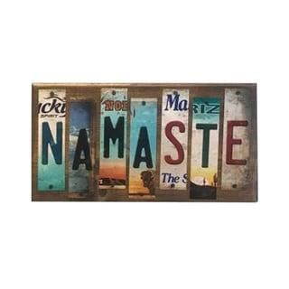 Smart Blonde WS-066 Namaste License Plate Strip Novelty Wood Sign