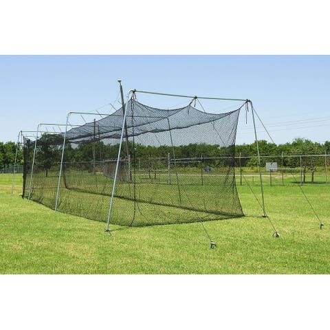 Cimarron Sports 40x12x10 No 24 Twisted Polyethylene Batting Cage and Cable Frame