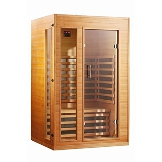 The Original Sunheat Ultra Low Emf Sh1660 Hemlock Infrared Sauna - 2 Person Capacity
