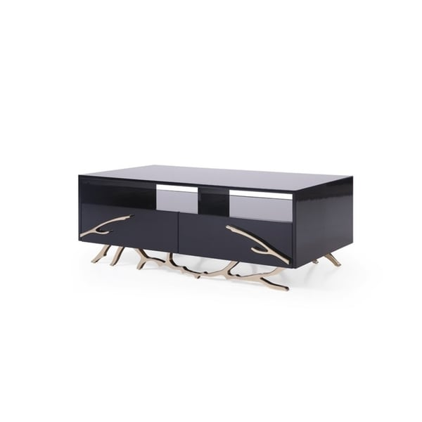 Shop Modrest Legend Modern Black & Gold Coffee Table