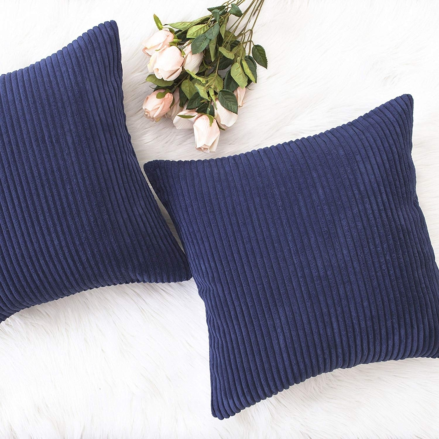 Decorative Pillow Covers Pillowcase Cushion Cover For Chair Navy Blue Overstock 22822126