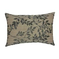 Embroidery Cushion Cover Lumbar Pillowcase for Sofa 12 x 20 Inch,Brown