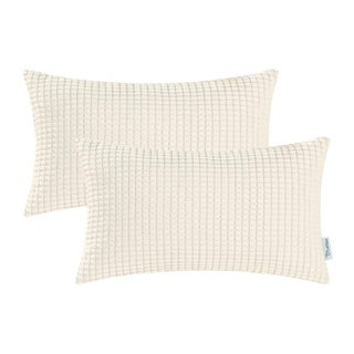 Couch Sofa Bed Corduroy Corn Striped Both Sides 12 X 20 Inches Cream