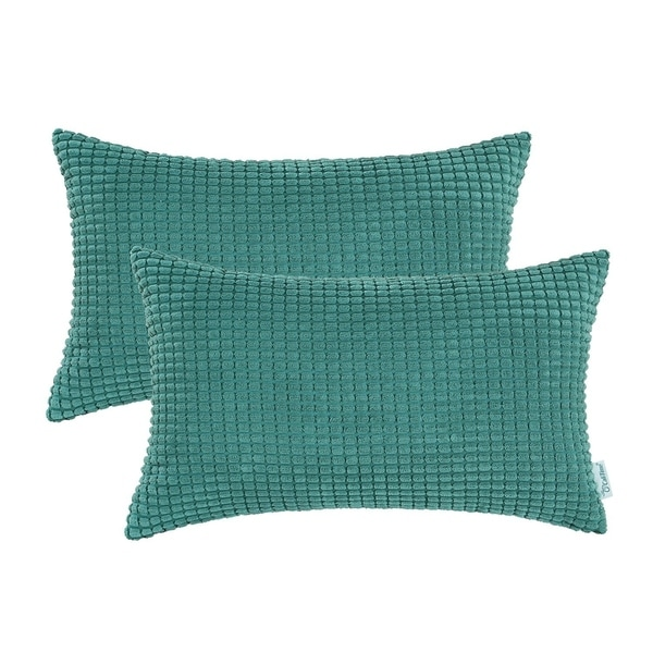 Couch Sofa Bed Comfortable Corduroy Corn Striped Both Sides Teal