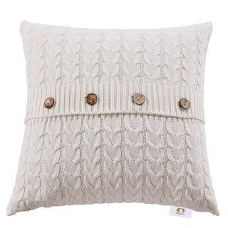 Double Cable knit Pillow cover cushion cover for home décor (lvory)