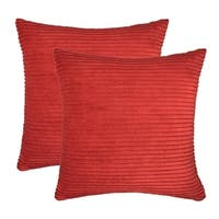 Pillow Cover Corduroy Velvet Decorative Euro Cushion Case for Bed