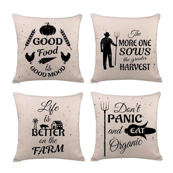 Shop Farmhouse Quotes Pillow Cover Cushion Case For Sofa 18 X 18