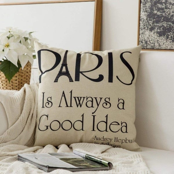 Shop Paris Is Always A Good Idea Cotton Linen Decorative Throw