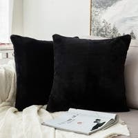 Luxury Warm Series Faux Rabbit Fur Throw Pillow Case Cushion Cover