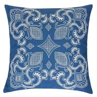 Alexandra Sapphire Blue Square Couch Cushion Pillow Case 20 x 20 Inch