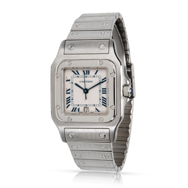 0ccbfea1422 Pre-Owned Cartier Santos Galbee W20060D6 Men's Watch in Stainless Steel