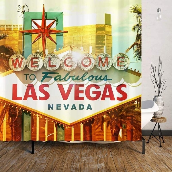Fabulous Las Vegas Shower Curtain 71x27x27x71x27