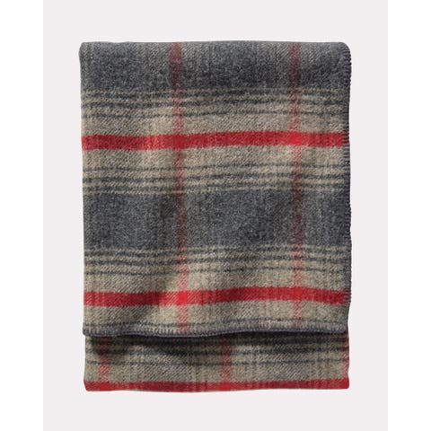 Pendleton Eco-wise Machine Washable Waverly Plaid Oxford Queen Blanket