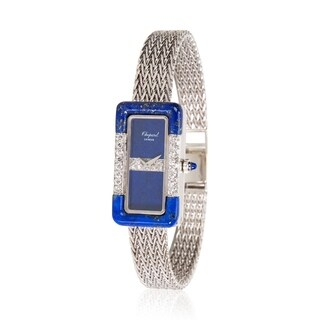 Pre-Owned Chopard Dress Women's Diamond and Lapis Watch in 18K White Gold