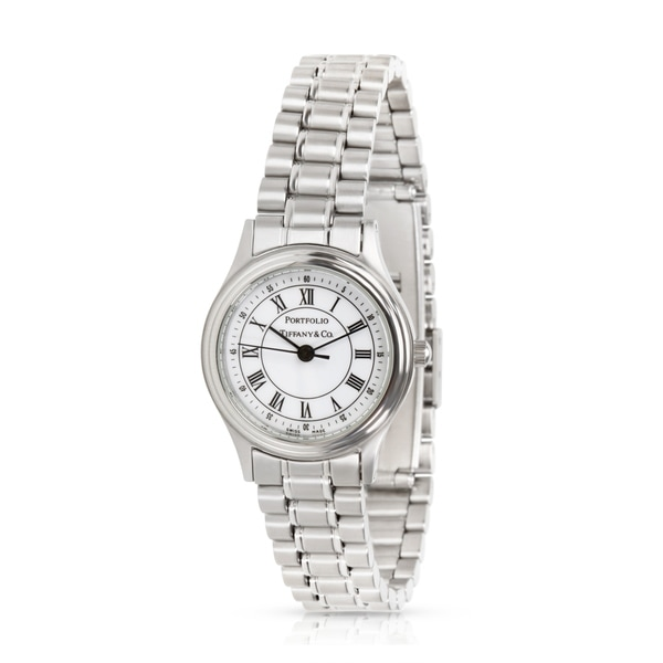be4330d9fe Shop Pre-Owned Tiffany & Co. Portfolio Women's Watch in Stainless ...