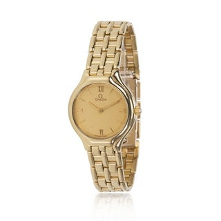 Pre-Owned Omega Deville 4160.13 Women's Watch in 18K Yellow Gold