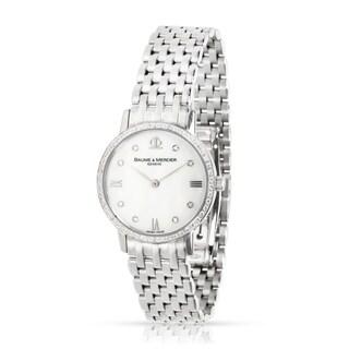 Pre-Owned Baume & Mercier Dress 65524 Women's Watch in 18kt White Gold