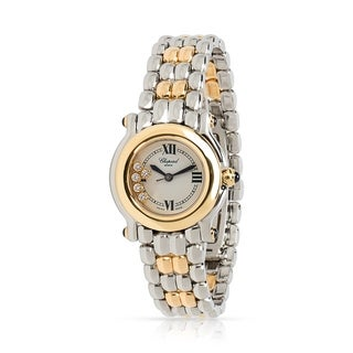 Pre-Owned Chopard Happy Sport 27/8256-23 Women's Watch in 18kt Yellow Gold/Steel