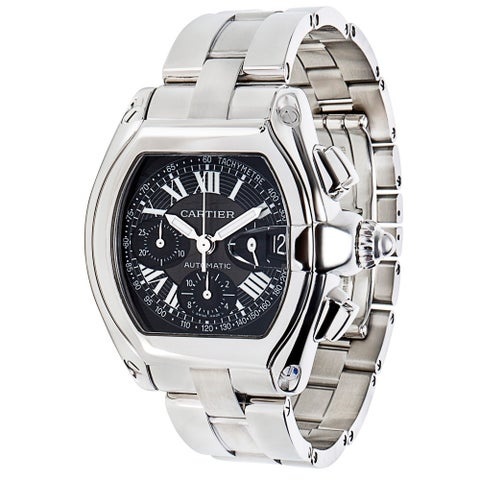 Pre-Owned Cartier Roadster W62020X6 Chronograph Men's Watch in Stainless Steel - N/A - N/A