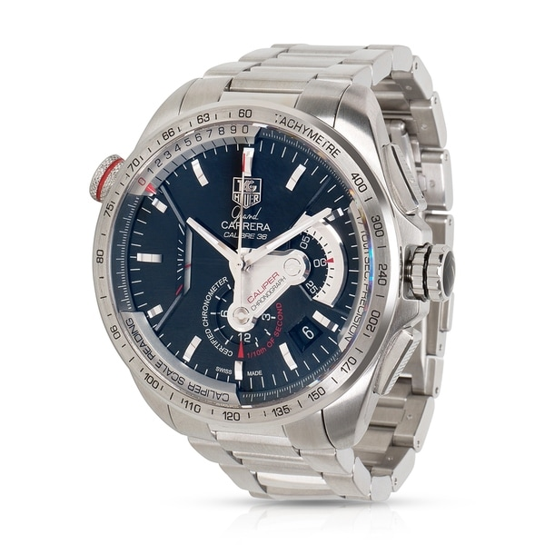 9b4b30f99b8 Pre-Owned Tag Heuer Grand Carrera CAV5115 Men's Watch in Stainless