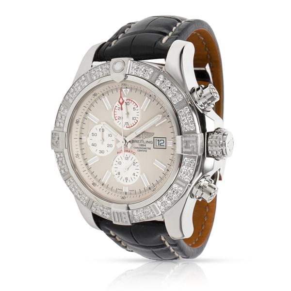 84fec0174d4 Shop Pre-Owned Breitling Super Avenger II A1337153 G779 Men s Watch ...