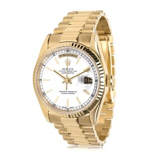 Pre-Owned Rolex Day-Date 118238 Men's Watch in 18K Yellow Gold