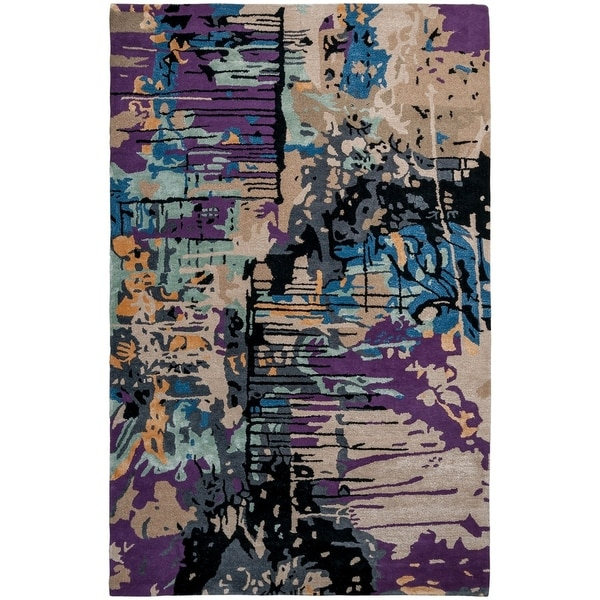 Unbelievable Mats 3' x 5' Splash Wool and Viscose Accent Rug - 3' x 5'