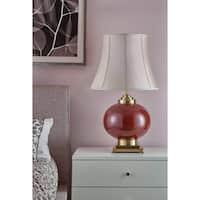 Park Lane 1-light Porcelain/Bronze Accent Table Lamp