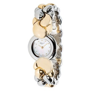 Pre-Owned Chopard 'Geneve' Women's Watch in 18KT Yellow Gold Mother of Pearl Dial