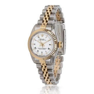 Pre-Owned Rolex Oyster Perpetual 67193 Women's Watch in 18kt Stainless Steel/Yellow Gold