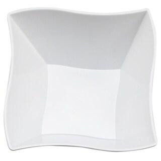 Kaya Collection - Disposable Plastic Wave 14oz Soup/Condiment Bowls (20 Bowls)
