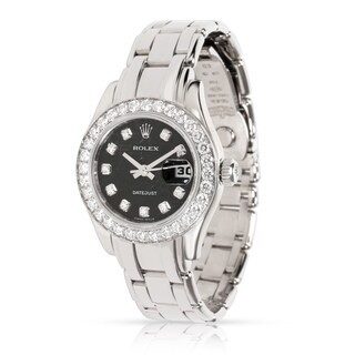 Pre-Owned Rolex Pearlmaster 80299 Women's Diamond Watch in 18kt White Gold