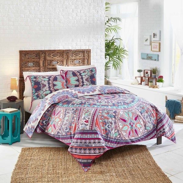 Boho Boutique Beach Babe Comforter set - Rosewater