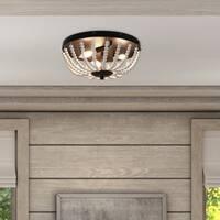 Avery Beaded 3-Light Flush Mount Ceiling Light