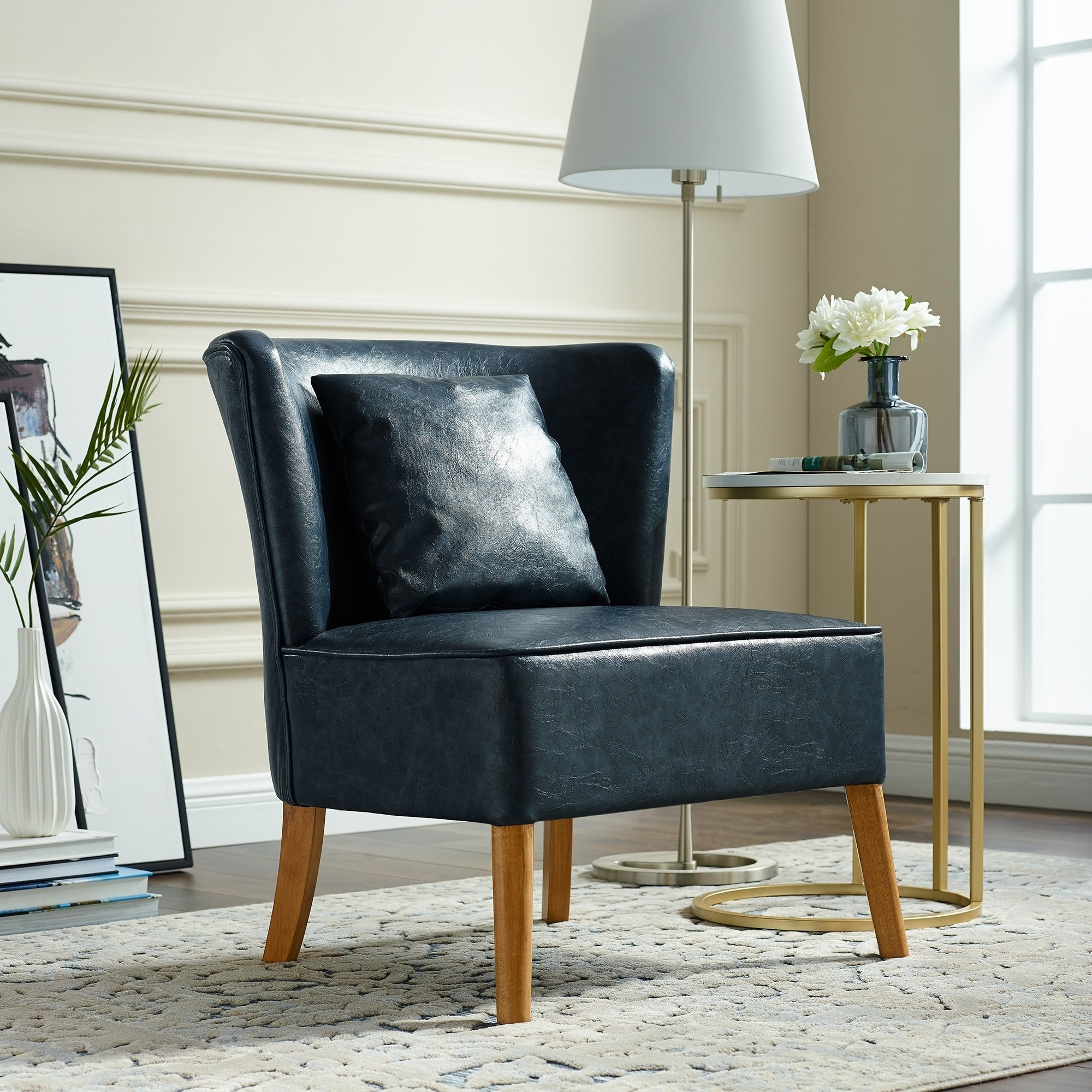 Brilliant Curved Back Upholstered Accent Chair 26 X 25 X 31H Inzonedesignstudio Interior Chair Design Inzonedesignstudiocom